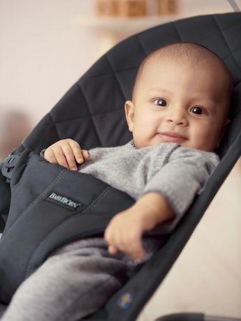Babywippe Bliss Schwarz Baumwolle - BABYBJÖRN