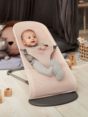 Babywippe Bliss in Perlmuttrosa Mesh - BABYBJÖRN
