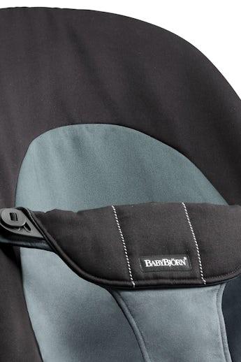 Fabric Seat for Bouncer Balance Soft, Black/Grey Cotton - BABYBJÖRN