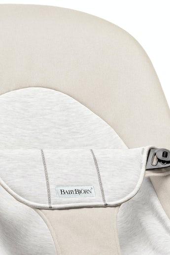 Fabric Seat for Bouncer Balance Soft, Beige/Grey Cotton Jersey - BABYBJÖRN
