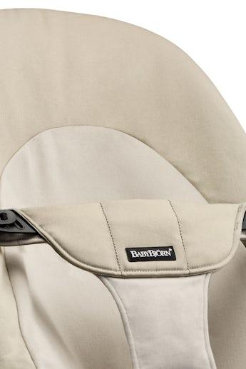 Fabric Seat for Bouncer Balance Soft, Kaki/Beige Cotton - BABYBJÖRN