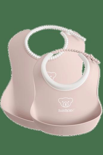 Feeding Bib set in 2 sizes, Powder Pink - BABYBJÖRN