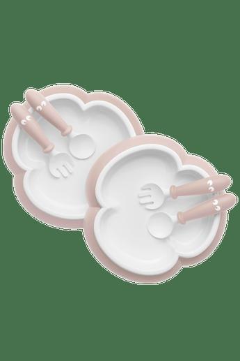 Plato, Cuchara y Tenedor Bebé Rosa Pastel - BABYBJÖRN