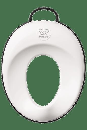 Ein stabiler Toilettensitz,in Weiss/Schwarz - BABYBJÖRN