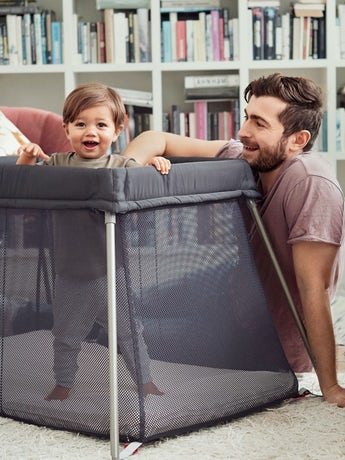 Travel Cot Easy Go Anthracite Mesh - BABYBJÖRN