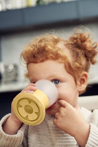 Verre pour Bébé, lot de 2, Jaune Pastel - BABYBJÖRN