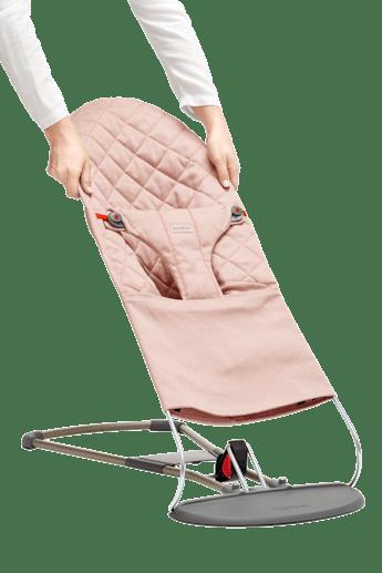 Zusätzlicher Stoffsitz für Babywippe Bliss Altrosa Baumwolle - BABYBJÖRN