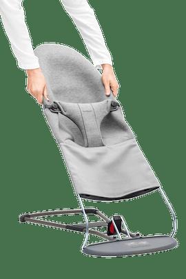 Zusätzlicher Stoffsitz für Babywippe Bliss Hellgrau 3D Jersey - BABYBJÖRN