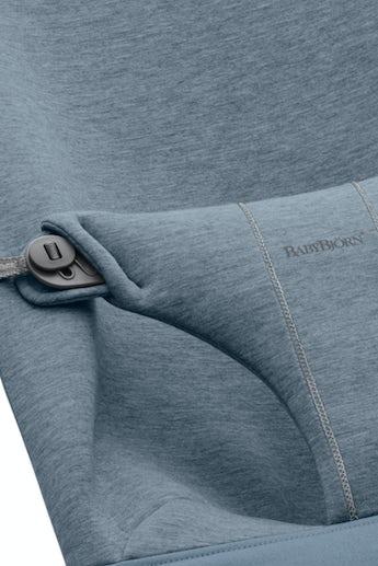 Zusätzlicher Stoffsitz für Babywippe Bliss Taubenblau 3D Jersey - BABYBJÖRN