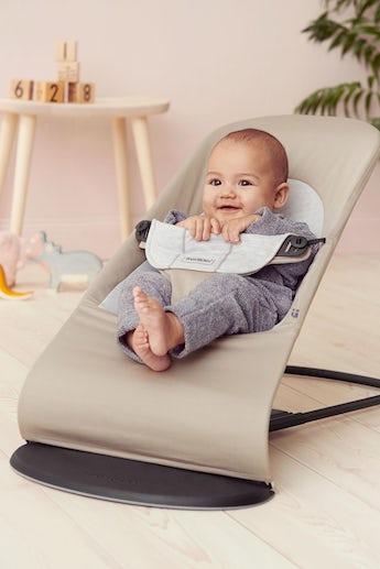 Babywippe Balance Soft Beige Grau Cotton/Jersey - BABYBJÖRN