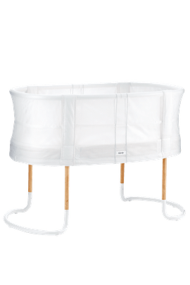 Baby Crib in White airy Mesh and wood - BABYBJÖRN