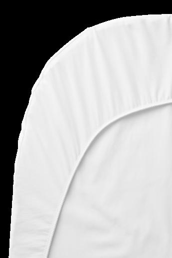 Spannbetttuch für das Babybett Weiss Organic Cotton - BABYBJÖRN