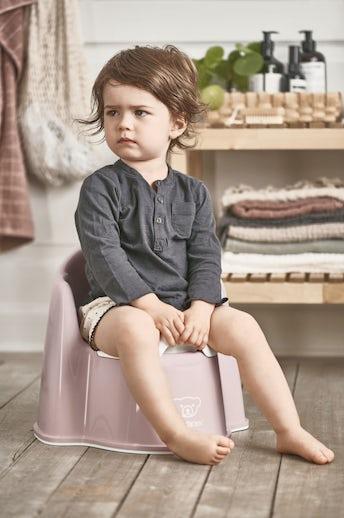 Potty Chair Powder Pink White - BABYBJÖRN