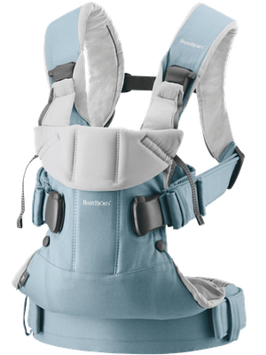 Baby Carrier One Light blue/Light grey in Cotton-mix - BABYBJÖRN