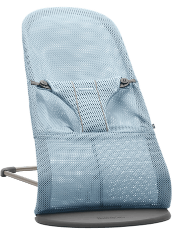 Bouncer Bliss Sky blue in soft and airy Mesh - BABYBJÖRN