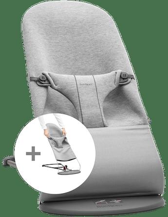 Hamaca con asiento de tela adicional Gris Claro 3d Jersey - BABYBJÖRN