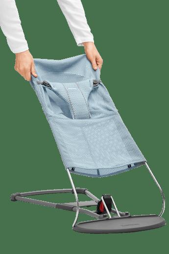 Stoffsitz für Babywippe Bliss Himmelblau Mesh - BABYBJÖRN