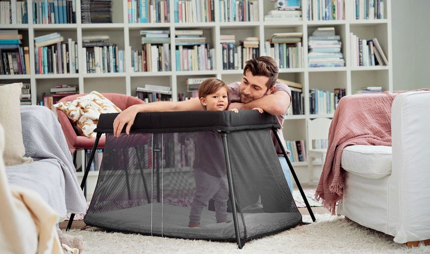 Travel Cot Light in airy mesh - BABYBJÖRN