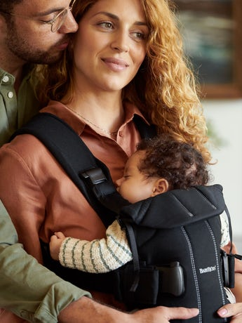 Baby Carrier One in Black cottonmix - BABYBJÖRN