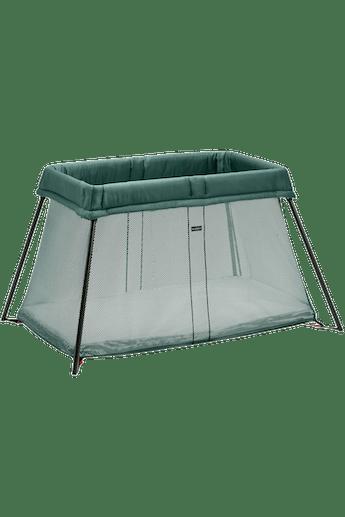 Travel Crib Light in Dark Green Mesh - BABYBJÖRN