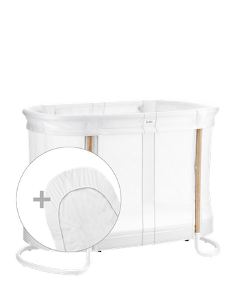 Cosy Baby Crib with two height positions with extra fitted sheet combined - BABYBJÖRN