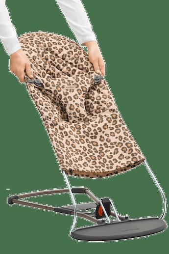 Extra tygsits för Babysitter Bliss i Beige/Leopard print Cotton