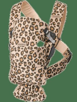 Mochila Porta Bébé Mini Beige/Leopardo Cotton - BABYBJÖRN