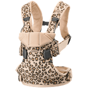Bärsele One i Beige/Leopard Cotton - BABYBJÖRN