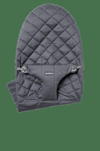 Zusätzlicher Stoffsitz für Babywippe Bliss in Anthrazitgrauer Baumwolle - BABYBJÖRN