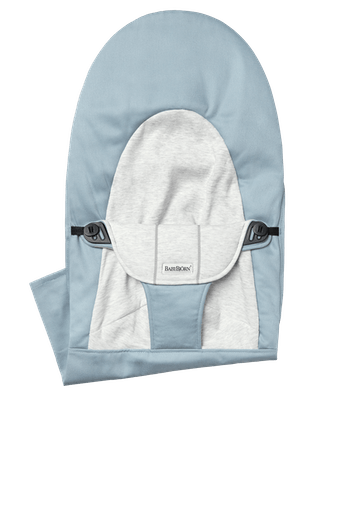 Zusätzlicher Stoffsitz für die Babywippe Balance Soft Blau Grau Cotton Jersey - BABYBJÖRN