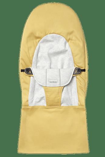 Zusätzlicher Stoffsitz für die Babywippe Balance Soft Gelb Grau Cotton Jersey - BABYBJÖRN