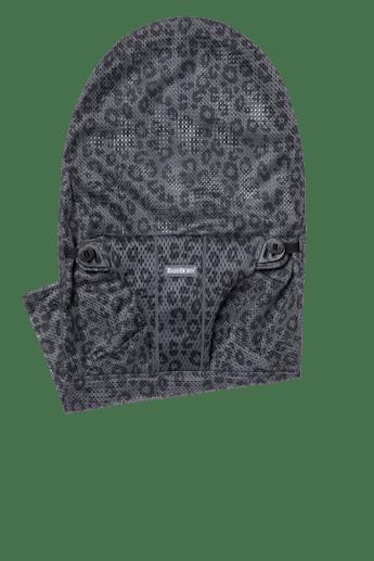 Zusätzlicher Stoffsitz für Babywippe Bliss in Anthrazitgrau/Leopard Mesh - BABYBJÖRN