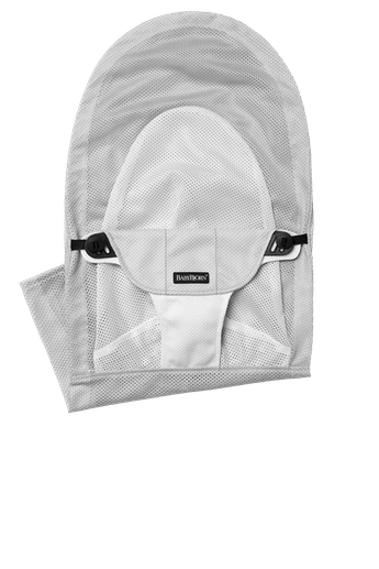 Fabric Seat for Bouncer Balance Soft, Silver/White Mesh - BABYBJÖRN