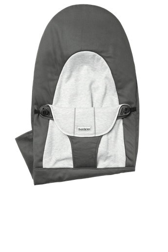 Fabric Seat for Bouncer Balance Soft, Darkgrey/Grey Cotton Jersey - BABYBJÖRN