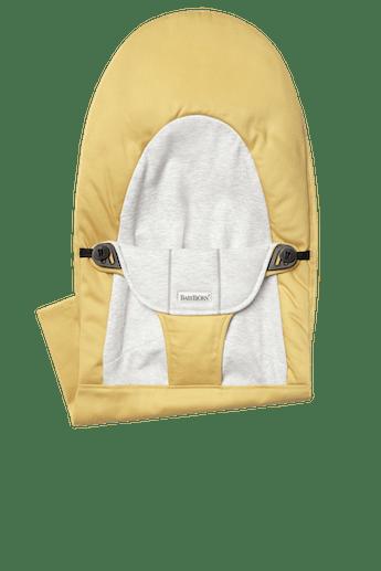 Asiento de tela adicional Hamaca Balance Soft Amarillo Gris Jersey Algodon - BABYBJÖRN