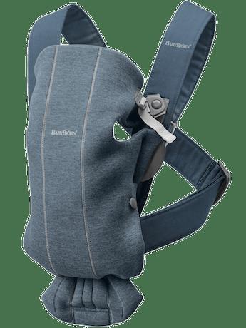 Porte-bébé Mini – Soft Selection - Bleu Chiné en 3D Jersey -BABYBJÖRN