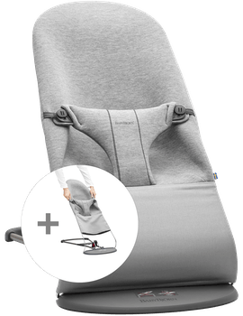Kit Sdraietta e Sedile in Tessuto Grigio chiaro 3D Jersey - BABYBJÖRN