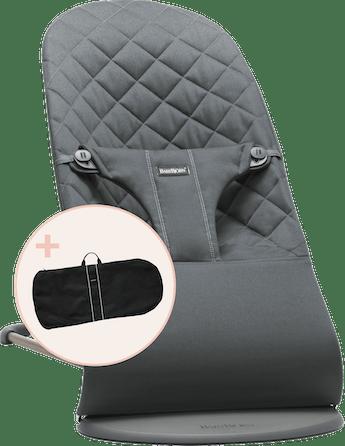 Babywippe mit Transporttasche Antrazitgrau Cotton - BABYBJÖRN