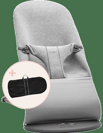Babywippe mit Transporttasche Hellgrau 3D Jersey - BABYBJÖRN