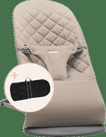 Babywippe mit Transporttasche Sandgrau Cotton - BABYBJÖRN