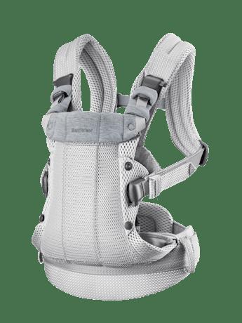 Babytrage Harmony 0 - 3 Jahre Silber in 3D Netzstoff Babytrage mit gepolsterter Rückenstütze und ergonomischem Design