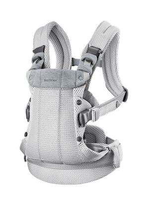 Baby Carrier Harmony Silver in airy 3D-Mesh with padded back support and an ergonomic design