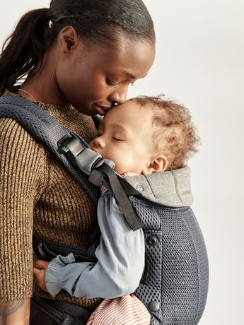 Baby Carrier Harmony Anthracite 3D Mesh with padded back support and an ergonomic design