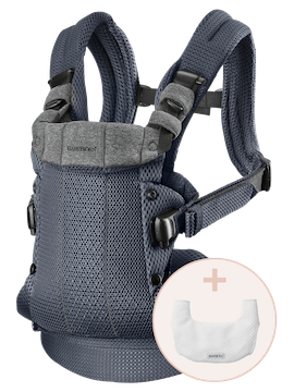 Baby Carrier Harmony Anthracite 3D Mesh with bib - BABYBJÖRN